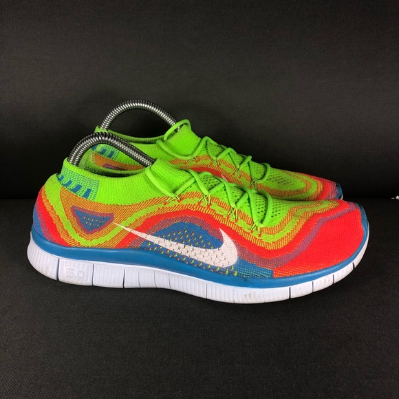special section how to buy newest Nike Free 5.0 FlyKnit Rainbow Running Shoe